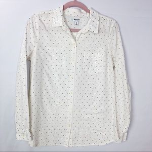 🐢OLD NAVY polka dot button up size M